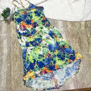 Floral Braided Sundress Swim Coverup